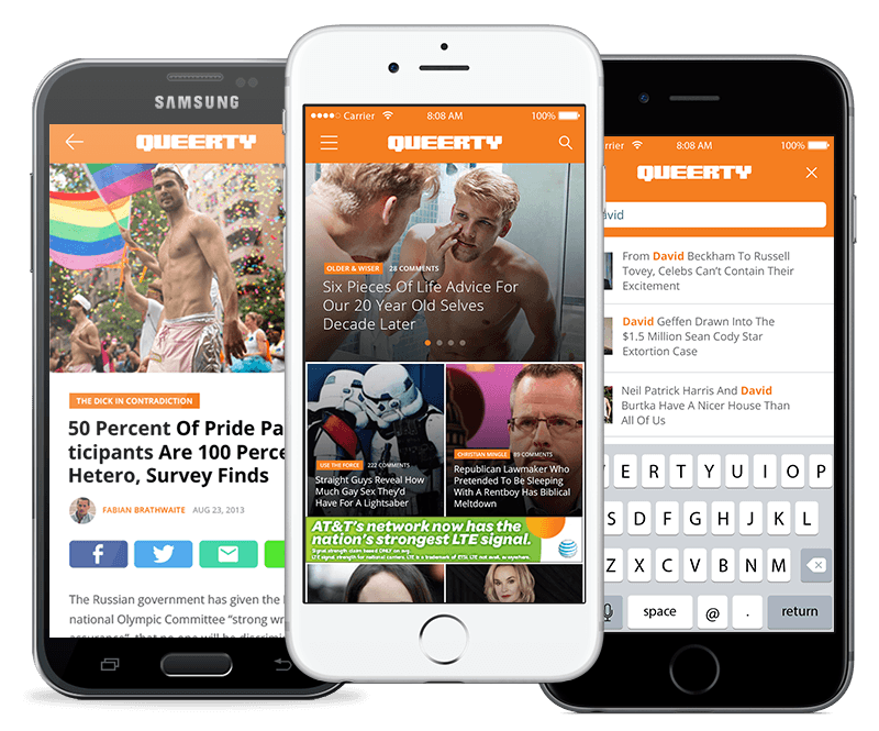 Queerty App on iOS and Android