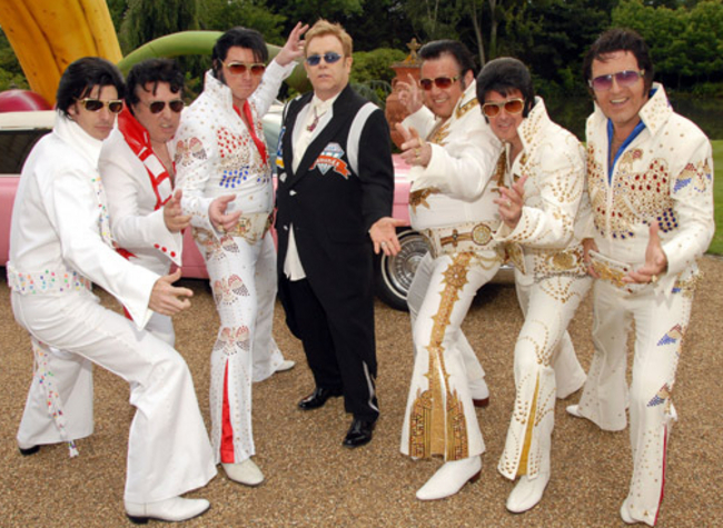 Elton Parties With Elvis, Others