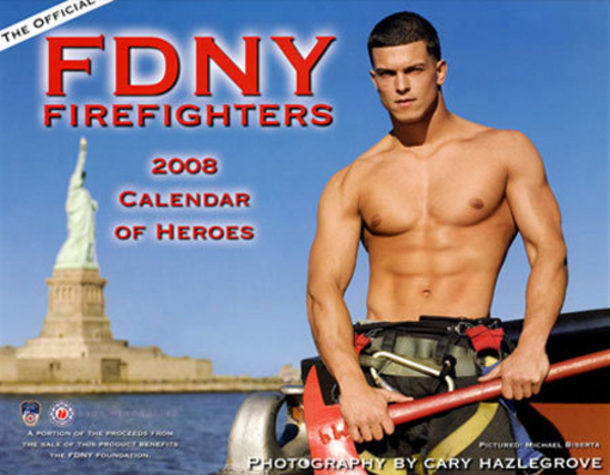 Fireman Burns Up Fundraising Calendar