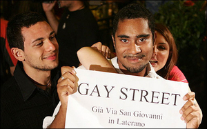 Gays Take Street  As Their Own