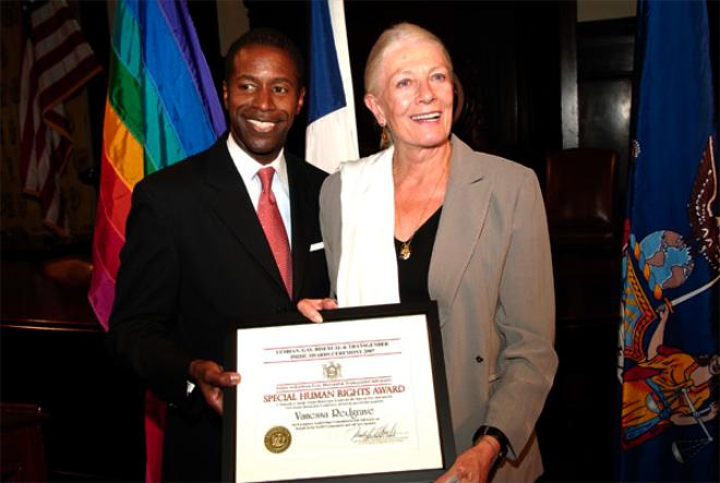 Redgrave, Pals Honored For Pro-Gay Ways