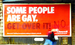 Gay Posters Vandalized