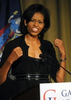 Michelle Obama Talks Up Gay Dems.