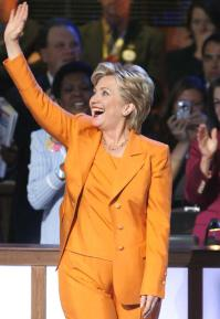 """Hillary's """"Traveling Pantsuits"""" Makes Us Groan"""