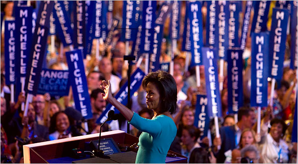 Ted Kennedy, Michelle Obama Kick Off Convention