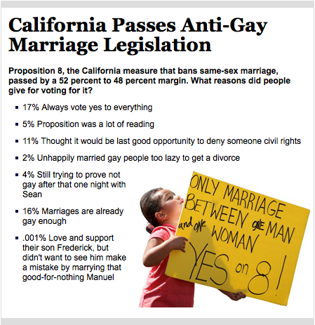 The Onion Explains Why Prop 8 Passed