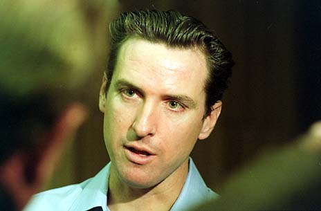 Gavin Newsom's Morning Marriage Whirlwind Tour