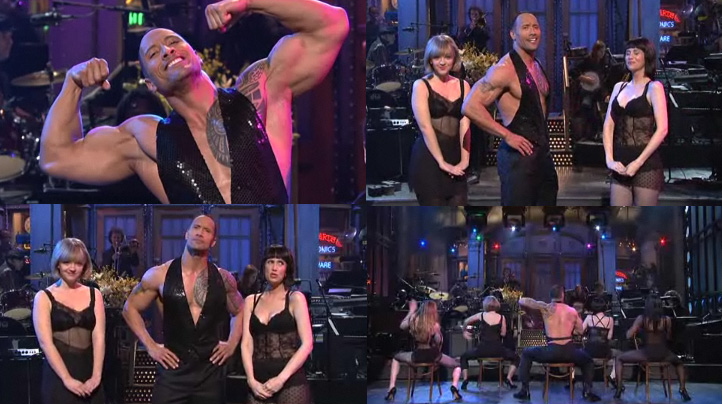 Dwayne Johnson Certainly Fills Out That Top Nicely