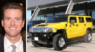 Newsom April Fools: 'I Bought a Hummer'