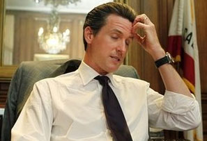 Gavin Newsom Realizes How Bad It Looks Taking Cash From the Fruit of Mike Savage's Loins
