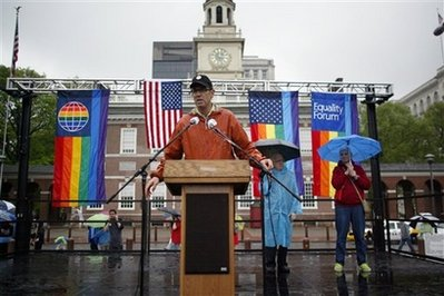 Philadelphia Gays Get Drenched for Equal Rights, Not Wet T-Shirt Contest