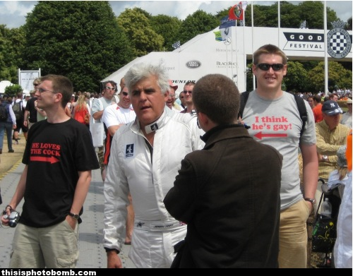 Somebody Wearing a T-Shirt Thinks Jay Leno is a Gay