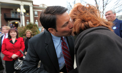 Gay Republican Lt. Governor Candidate Kisses Woman in Broad Daylight