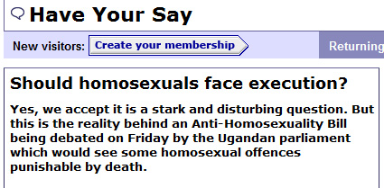 Is the BBC Seriously Asking Whether It's OK to Murder Gay Ugandans?