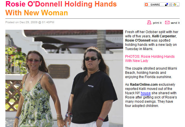 Now Both Rosie O'Donnell + Kelli Carpenter Have New Girlfriends!