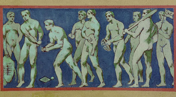 Why Are There a Bunch of Naked Men Playing Baseball in the Library of Congress?