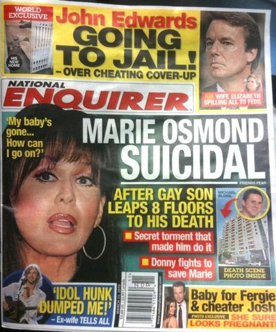 Was the Mormon Closet Responsible for Marie Osmond's Son Michael Blosil Taking His Own Life?