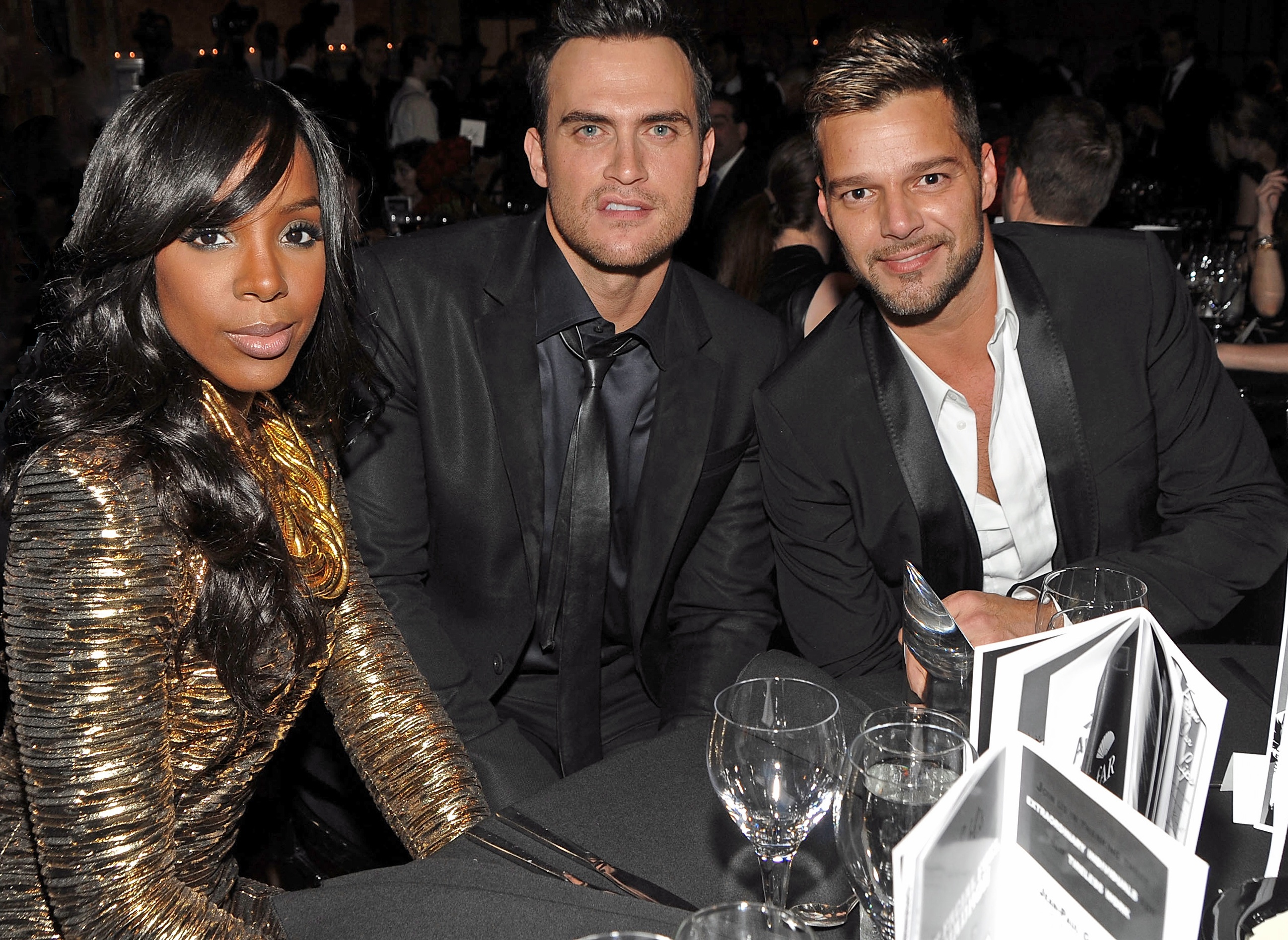 Wherein Ricky Martin's Hand Goes Missing Under Cheyenne Jackson's Table
