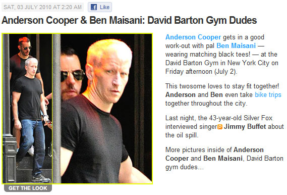 Which Celeb Blogs Run By Gays Are Outing Anderson Cooper + Benjamin Maisani?