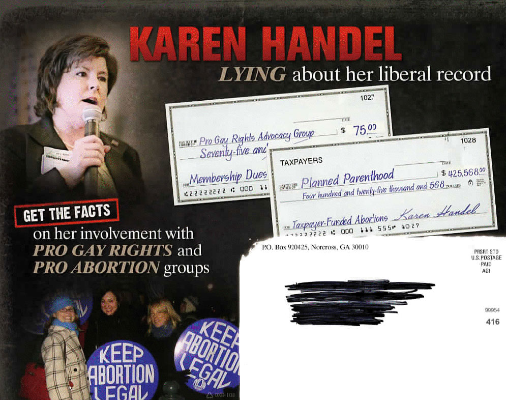 How Dare You Say GA Gov Hopeful Karen Handel Isn't Conservative Enough. She Hates Gay Parents, Ya Know