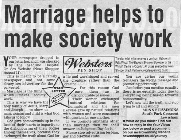 Does Highlighting a Newspaper Reader's Homophobia Count As Endorsing It?