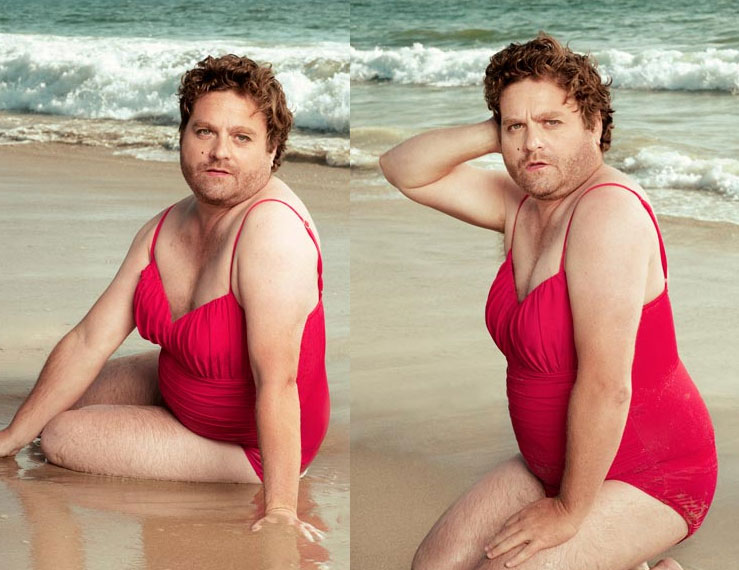 Zach Galifianakis, Swimsuit Model