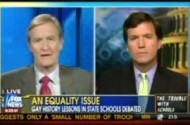 Tucker Carlson Doesn't Want Schools Teaching Kids About Gays Just Because They're Gay