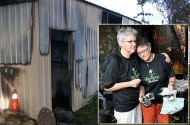 Lesbian Couple's Home + Car Tagged With Slurs. And Then Their Flower Shop Was Burned Down