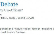 Today On The BBC: 'Is Homosexuality Un-African?'