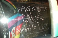 It Only Took 47 Months For The FagBug To Get Vandalized Again