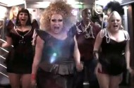 'Party Girl' Mimi Imfurst Hosts A Drag Queen Subway Dance Party
