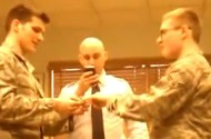 The Curious (Practice?) Marriage Ceremony Between 2 Airmen