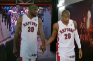 NBA Fans Banned From Leaving Nasty Comments About Leandro Barbosa + Reggie Evans Holding Hands