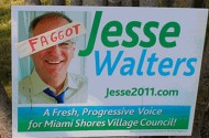 At Least One Miami Shores Voter Thinks Jesse Walters Is A 'Faggot'