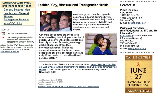 CDC's Gay Website's Infectious