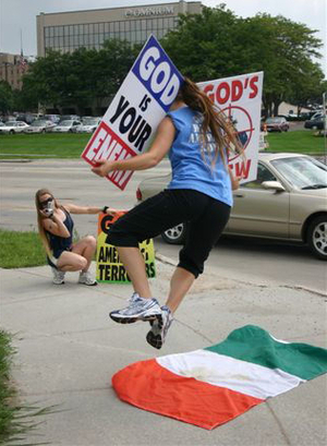 """Hey, Ireland! God Hates You!"" Sez Fred Phelps"