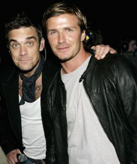 Becks, Robbie Not 'Desperately' Gay