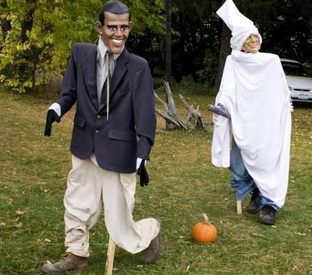 "Scary ""KKK McCain"" Goes After Obama In Halloween Display"