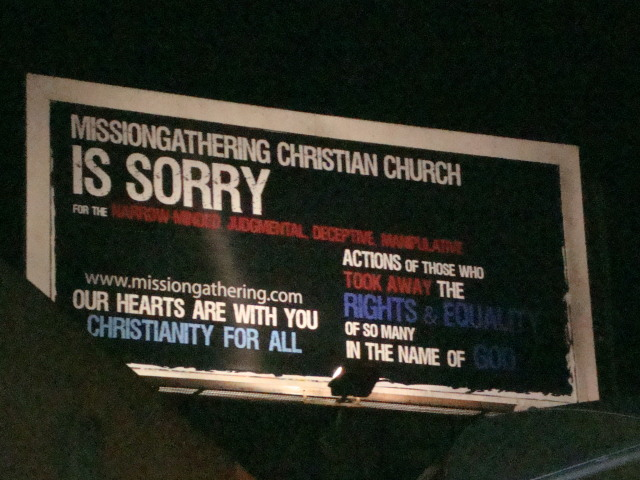San Diego Christian Church Apologizes for Prop. 8 Via Giant Billboard