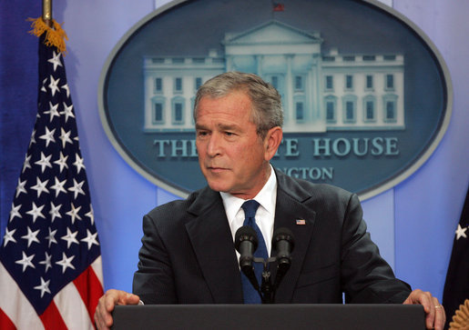 George Bush Says Good-bye to Press Corps, Any Hope of History Judging Him Kindly