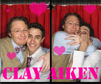Now That Clay Aiken's Out, He's Free to Snog His Boyfriend