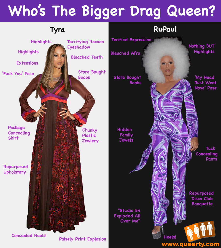 Homographic: Who's the Bigger Queen ... RuPaul or Tyra?