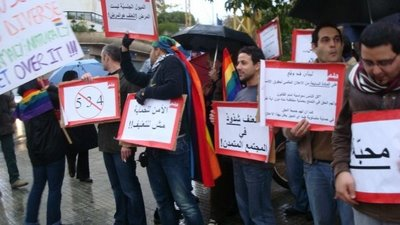 For the First Time, A Gay Rights Protest in the Arab World