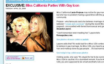 Why Was Miss California Partying With Amanda Lepore?