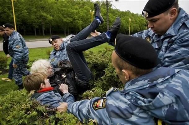 PHOTOS: Moscow Police Violently Arrest Gay Pride Demonstrators