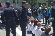 PHOTOS: Police On The Scene, Start Arresting Prop 8 Protesters
