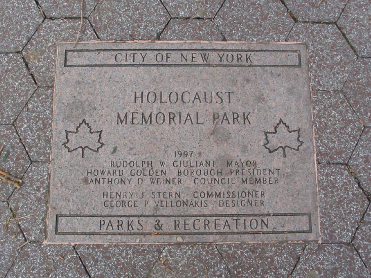 Why Do We Gotta Honor the Gays in NYC's Jews-Only Holocaust Park?