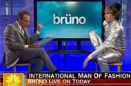 'Real' Journalists Unwilling to Confront Sacha Baron Cohen on Bruno's Homophobia
