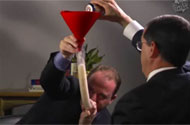 Rep. Jared Polis Can Pound Beer Through Phallic Apparatus Like the Rest of 'Em
