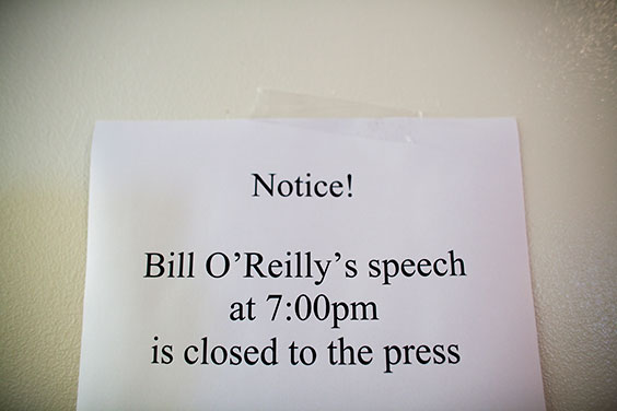 Why Didn't Bill O'Reilly Want Anyone to Cover His Value Voters Summit Awards Speech?